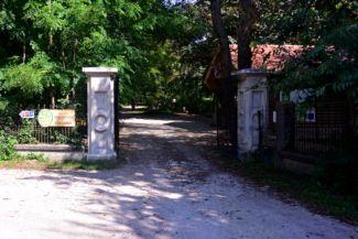 arborétum főbejárata
