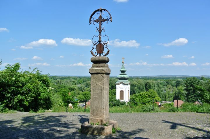 Tanner's Cross with the Preobrazenska Church in the back