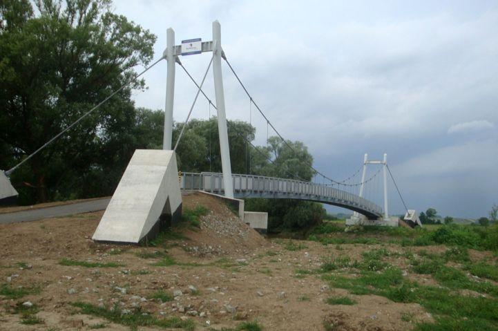 kerékpáros Hernád-híd Abaújnádasdnál