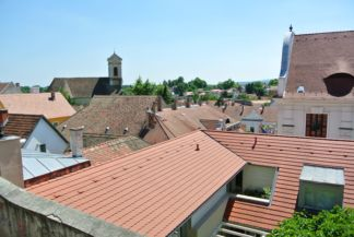 panorama with Saints Peter and Paul Church in the back