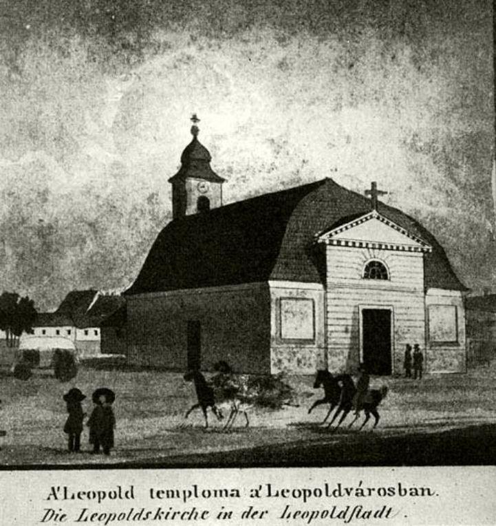a Zitterbarth-féle Szent Lipót-kápolna az 1810-es években (Forrás: Történelmi Képcsarnok)