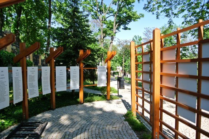 poems in the garden of the Vaszary Villa