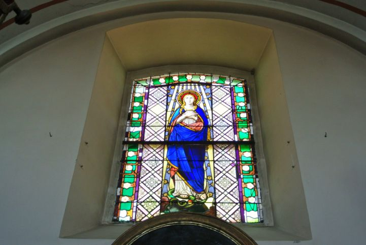mosaic window in the St. John the Baptist Church