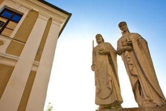 Szent István és Gizella királynő szobra