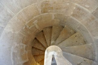 stairs in the tower of the Matthias Church