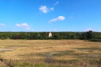 a Zichy-kápolna az út felől nézve