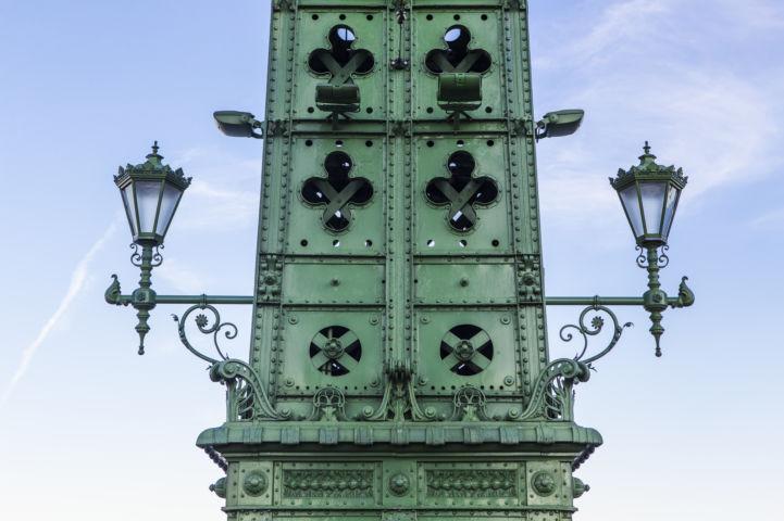 a Szabadság híd vasszerkezete