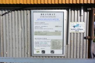 Zsámbéki romtemplom - premontrei kolostor - információs tábla