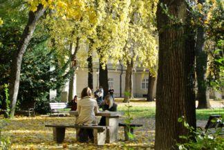 ősz a Nemzeti Múzeum kertjében