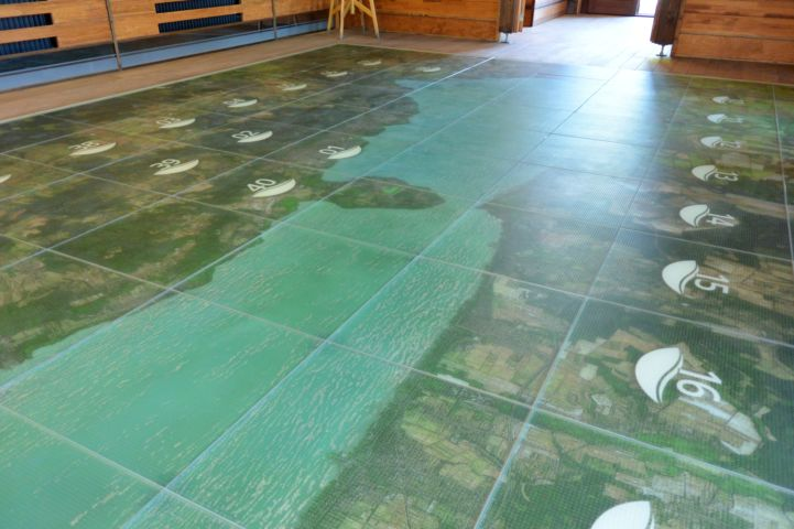 interactive floor in the Vitorlázeum