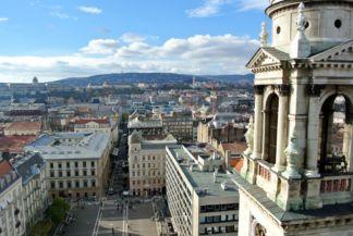 Szent István tér és a Zrínyi utca a Bazilika kupolájából