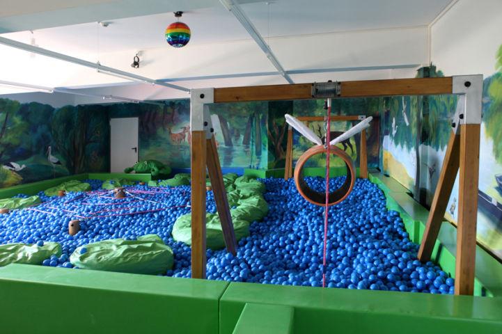 játszószoba a Tisza-tavi Ökocentrumban