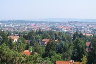 Sopron látképe a Sörházdombi kilátóból