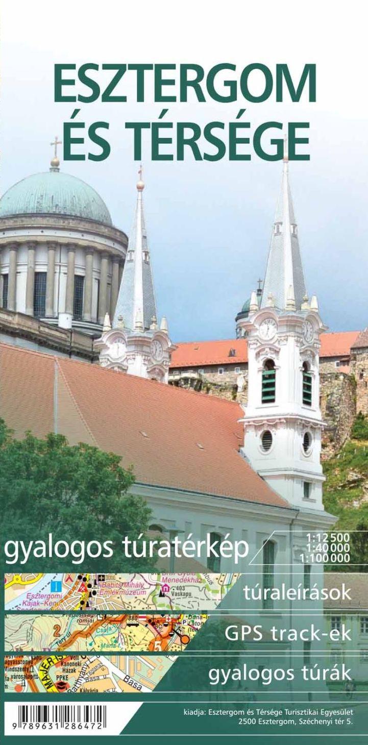 Esztergom és Térsége gyalogos túratérkép borítója