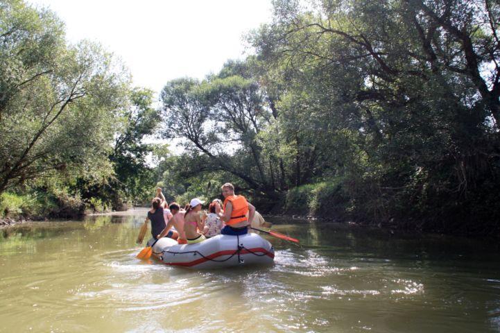 rafting a Kerkán