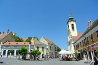Main Square with Plague Cross and Blagovestenska Church