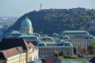 Buda Castle and Gellért Hill seen from the tower of Matthias Church