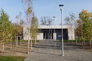 a Rákoskeresztúri új köztemető Látogatóközpontja