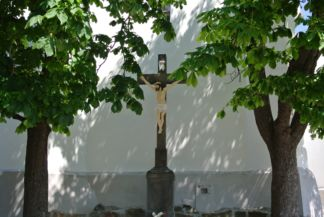 cross at the St. John the Baptist Church