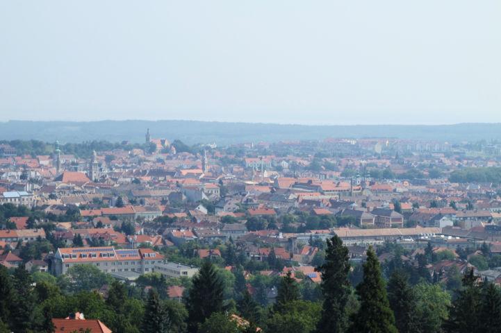 Sopron a Sörházdombi kilátóból nézve