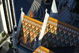 Zsolnay-tiles on the roof of the Matthias Church