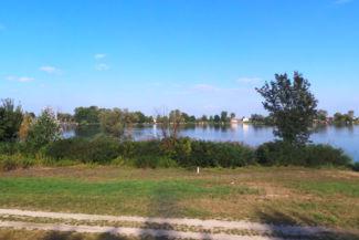 Ráckevei-Duna a Csepel-sziget legdélibb pontja felé közeledve