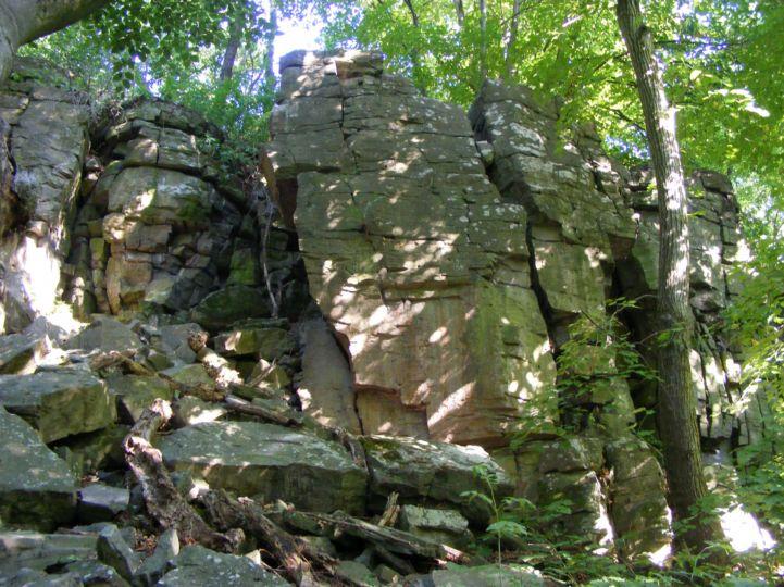 Vadlány-lik-barlang melletti bazalfolyosóban