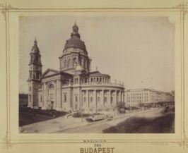 a Szent István-bazilika 1895 körül (Forrás: Fortepan/Budapest Főváros Levéltára)