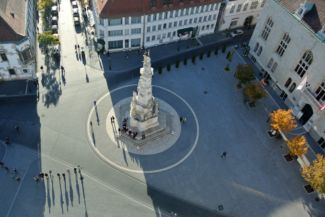 Szentháromság tér (Trinity Square) seen from the tower of Matthias Church