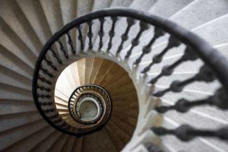 csigalépcső a tiszadobi Andrássy-kastélyban (forrás: Forster Központ)