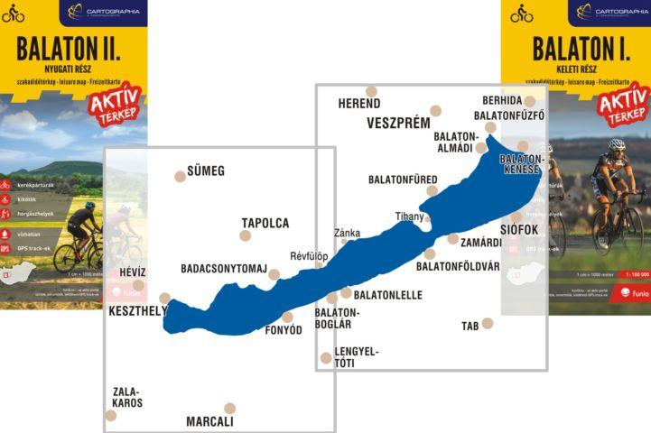 Balaton I-II. Aktív térkép címlapok és területek