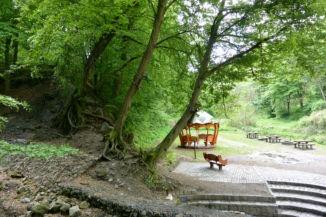 pihenőhely a Kaintz György-forrás mellett