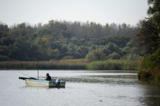 horgász a Szajlai Holt-Tiszán