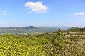 kilátás a Helembai-hegységre a Kis-Kúria-hegy tetejéről