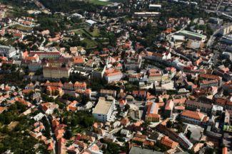légi fotó a városról