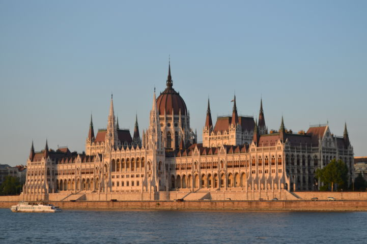Parliament during sunset