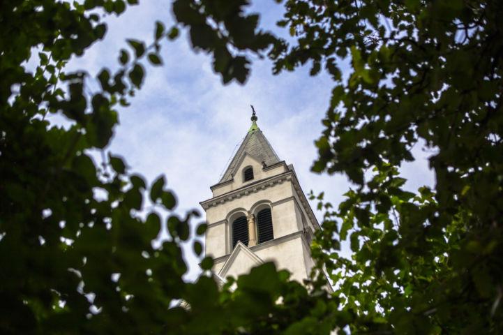 Kelenföldi evangélikus templom tornya