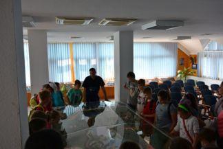 kiskörei vízlépcső, előadás gyerekeknek a tóról és a vízlépcsőről