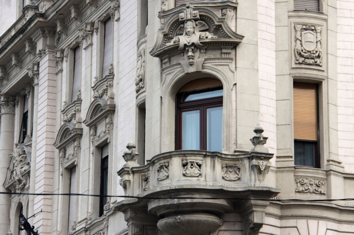 az Eraviszkusz-ház egyik erkélye