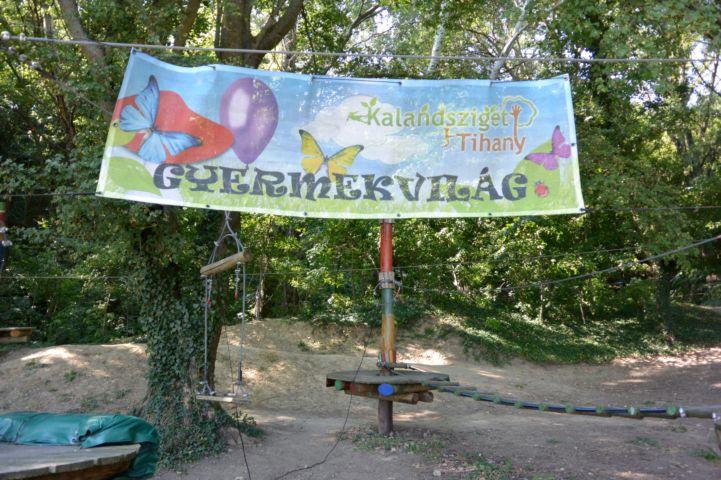 a Kalandsziget Tihany 'Gyermekvilág' része
