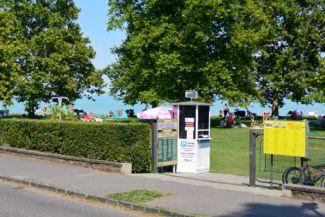 Átrium strand (más néven Center strand) bejárata