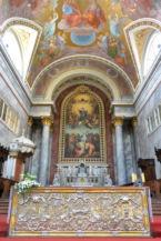 Michelangelo Grigoletti festménye Mária mennybemeneteléről a főoltárnál