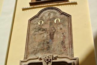 kép a Blagovesztenszka-templom bejárata fölött