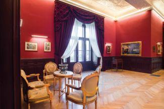 a felújított tiszadobi Andrássy-kastély egyik terme (forrás: Forster Központ)