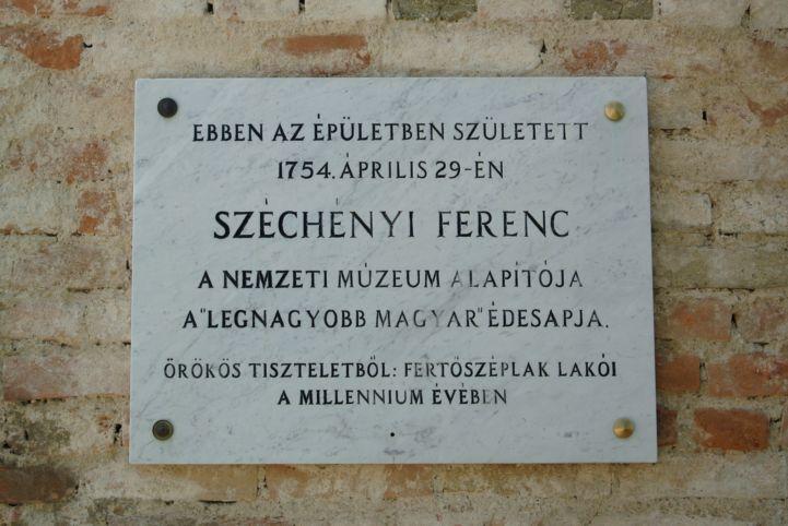 volt Széchenyi-kastély - Széchenyi Ferenc emléktábla