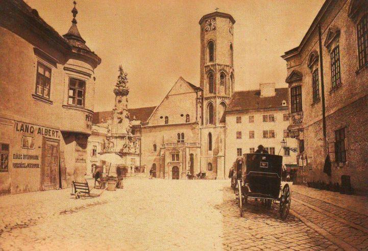 Mátyás-templom a Schulek-féle átépítés előtt