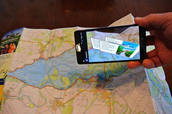 az 'Augmented Reality' technológia működés közben