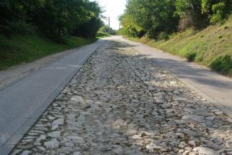 a Római út egy darabja a mai Mély útban