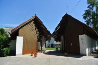 a Kócsagvár Látogatóközpont bejárata