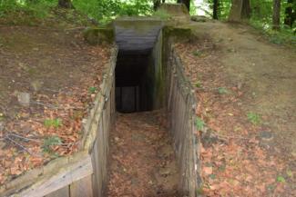 Bunker a Páka és Csömödér közti erdőben